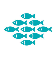 fish fishes icon vector image vector image