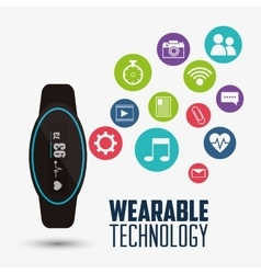 Health electronic smart watch wearable technology vector