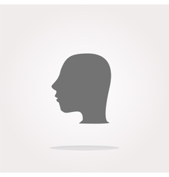 Idea head icon button Web Icon Art vector image vector image