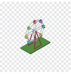 Isolated ferris wheel isometric recreation vector