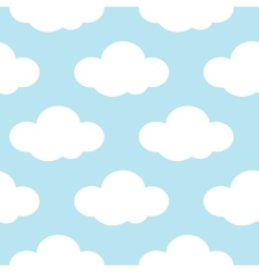 Light blue sky with white clouds seamless vector image vector image