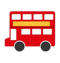 London bus isolated icon design vector