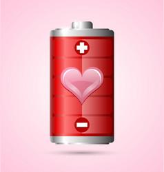Love energy icon vector