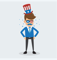 Man of memorial day and happy independence day usa vector