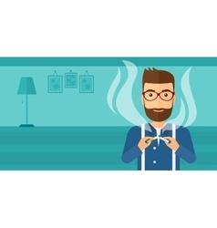 Man quit smoking vector