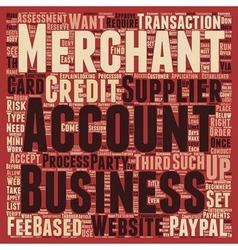 Merchant accounts for beginners text background vector