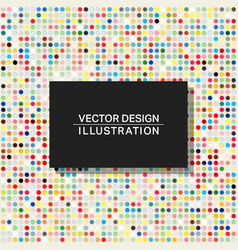 Multicolor dots background template colorful vector