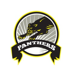 Panther Big Cat Growling vector image