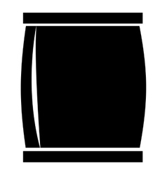 Plastic jar icon simple style vector image