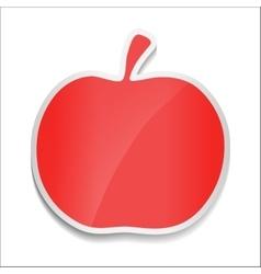 Red apple sticker on white background vector