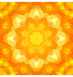 Round yellow triangles spring pattern vector image vector image