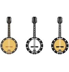 Set from a musical instrument banjo vector