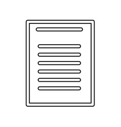 Sheet document symbol vector