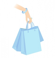 shopping packages vector image vector image
