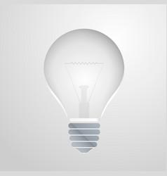 Symbol of idea the bulb vector