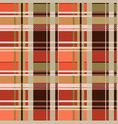 Tartan seamless texture mainly in brown hues vector
