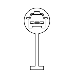 Taxi parking zone sign isolated icon vector