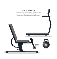 Machine and weight icon fitness design vector