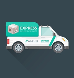 Express delivery service cargo vehicle vector