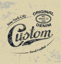 custom ny 1 vector image