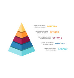 3d pyramid infographic growth diagram vector image