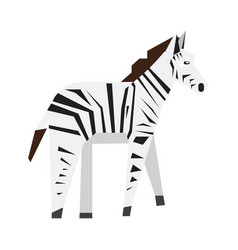 Isolated abstract zebra vector
