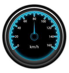 blue speedometer vector image