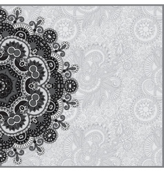 Circle grey lace ornament round ornamental vector