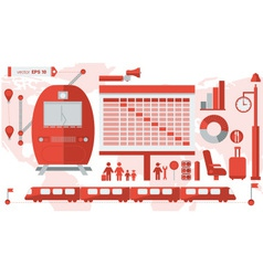 Train infographic 01 vector image