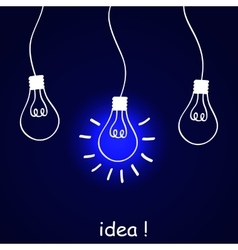 The concept of idea vector image