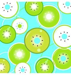 kiwi fresh summer pattern vector image