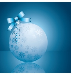 blue xmas ball vector image
