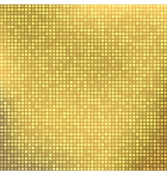 Gold abstract background with tiny squares vector