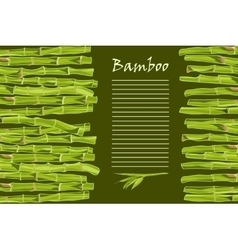 Hand-drawn green bamboo bacground with space for vector image