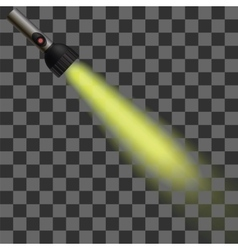 Yellow light of torch vector
