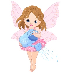 Watering fairy vector