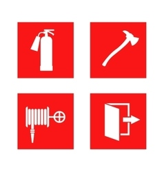 Fire safety sign vector image