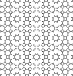 Lace seamless ethnic pattern vector image