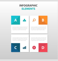 Abstract square business infographics elements vector