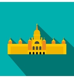 Almudena cathedral madrid icon flat style vector