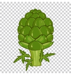 Artichoke isolated organic food farm food vector