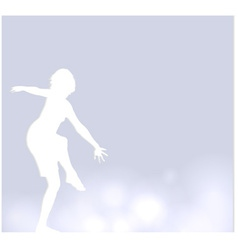 background with a dancer vector image