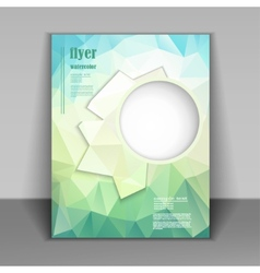 Booklet with fresh polygonal pattern vector