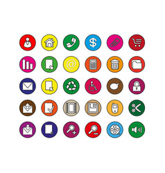 Button icon set vector