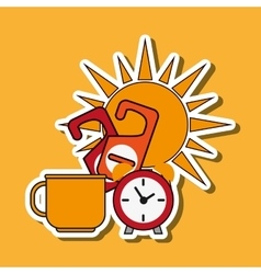 Clock design flat vector