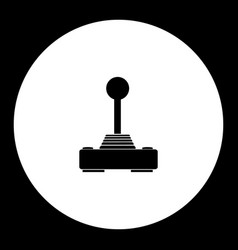 Computer input joystick for game simple black vector