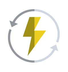 energy hazard symbol with arrows around vector image