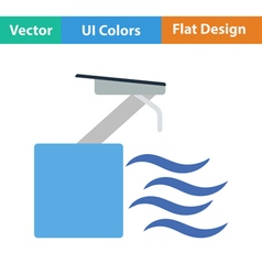 Flat design icon of diving stand vector