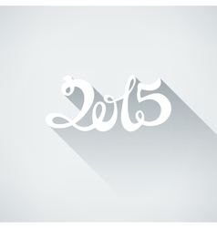 Flat style number 2015 with shadow vector