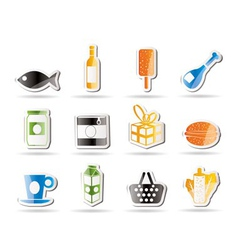 food and drink icons 1 vector image